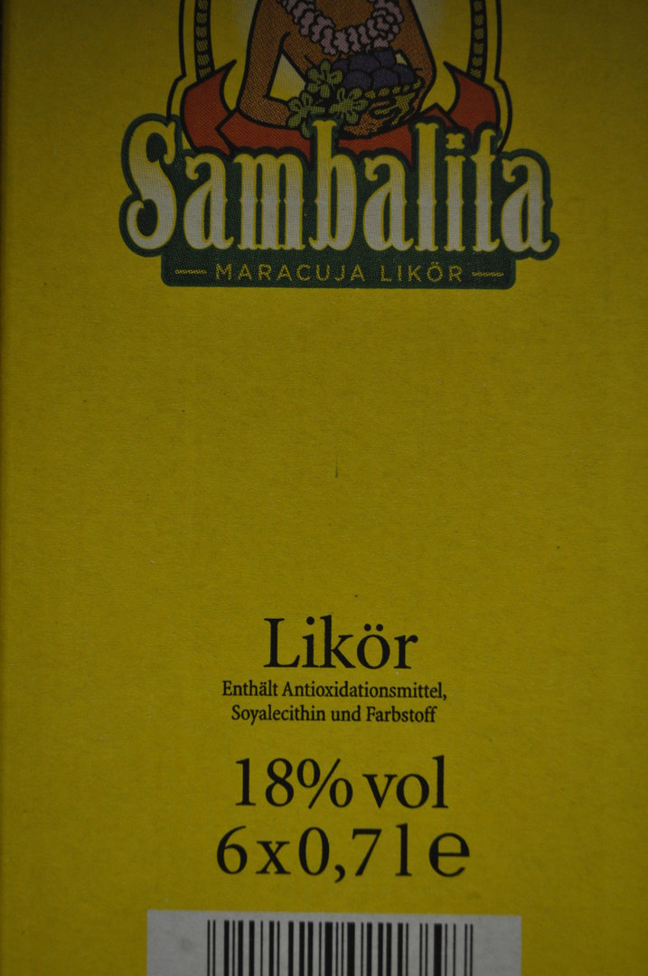 sambalita maracuja lik r 0 7 l beowein onlineshop. Black Bedroom Furniture Sets. Home Design Ideas