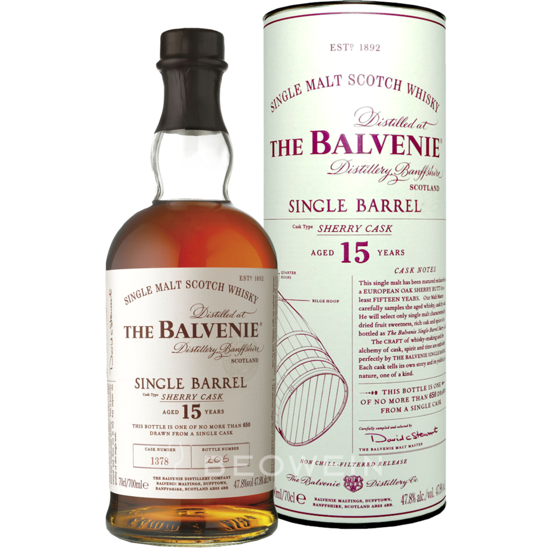 The Balvenie 15 Year Old Single Barrel Sherry Cask Scotch Review