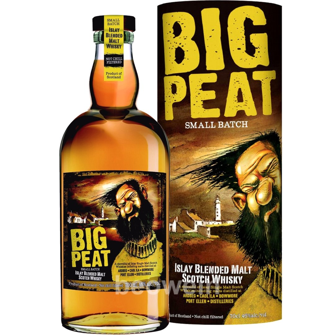 Big peat islay blended malt whisky 0 7 l beowein mail order for Big whiskey s