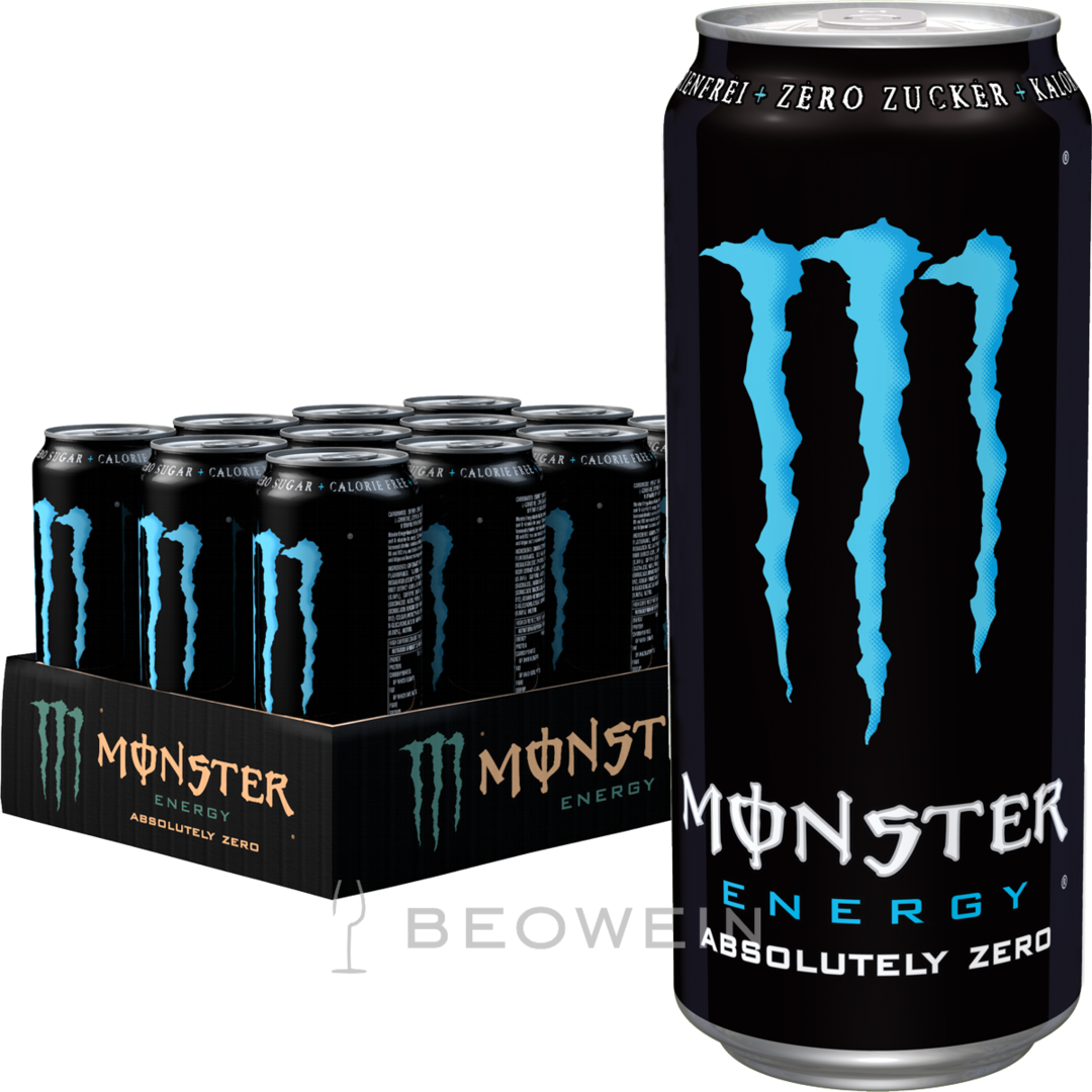 monster energy absolutely zero 12x0 5 l kaufen bei beowein. Black Bedroom Furniture Sets. Home Design Ideas